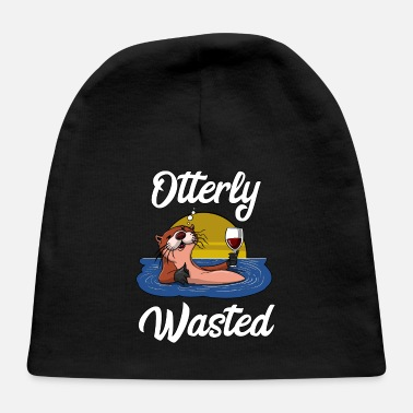 Party Otter Wine Drinking Party Otterly Wasted - Baby Cap