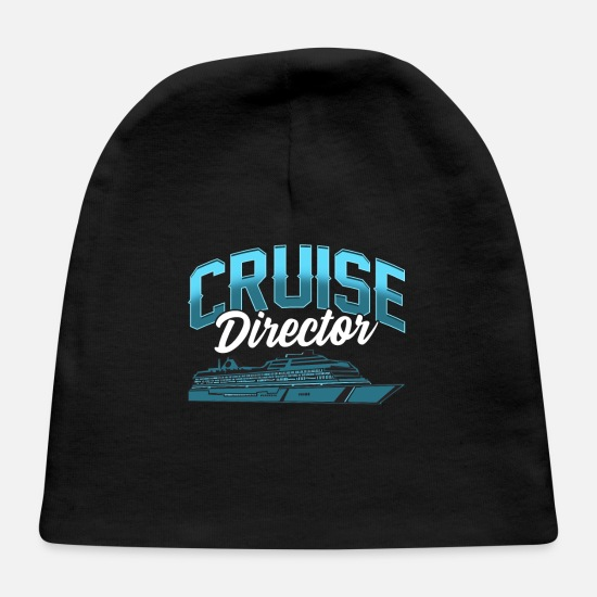 Birthday Baby Caps - Cruise Director Awesome Cruising Vacation Boating - Baby Cap black