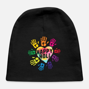 Bhang Happy Holi Colorful Hands Print Colors India - Baby Cap