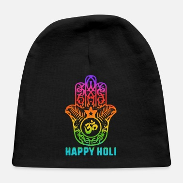Bhang Happy Holi Colorful Hamsa Colors India Culture - Baby Cap