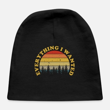 Logo Everything I Wanted Distressed Sunset Gift Music F - Baby Cap