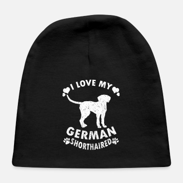 Rescue I Love My German Shorthaired Puppy Dog Gift Idea - Baby Cap