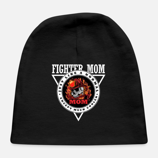 Fire Fighter Baby Caps - Fire Fighter Mom - Baby Cap black