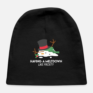 Frost Snowman Meltdown Christmas Holiday Stress Winter - Baby Cap