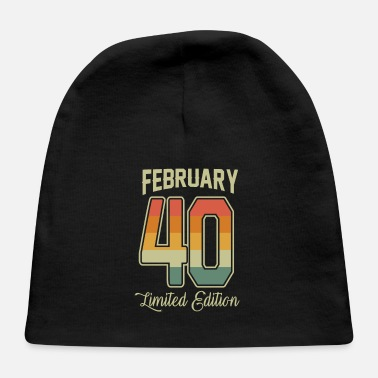 Production Year Vintage 80th Birthday February 1940 Sports Gift - Baby Cap