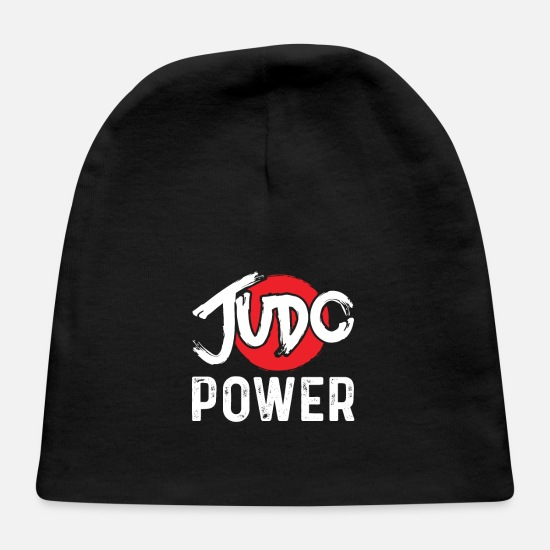 Judo Baby Caps - Judo Power Fists and Martial Arts Karate - Baby Cap black