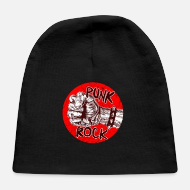 Bone Punk Rock Music Punkrock Punks Skull Gift - Baby Cap