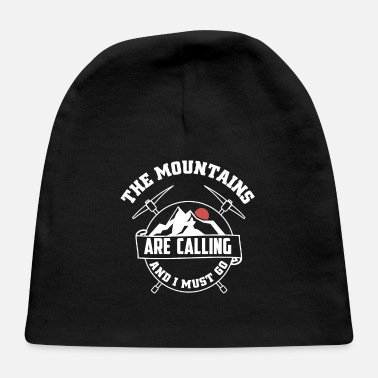 Mountains Mountains Mountain Design - Mountains Are Calling - Baby Cap