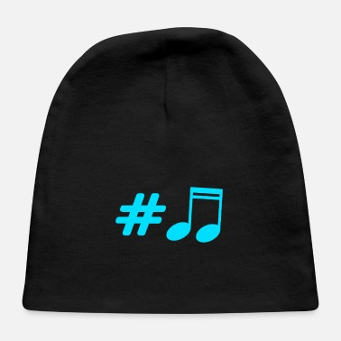 Music Music - musical note - Baby Cap