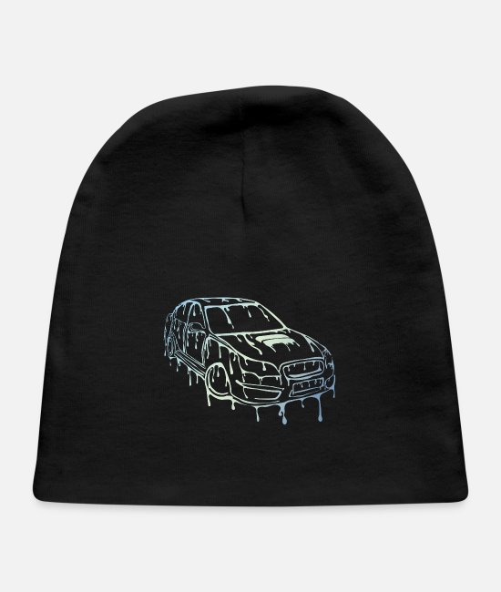 Automobile Baby Caps - tuned car - Baby Cap black