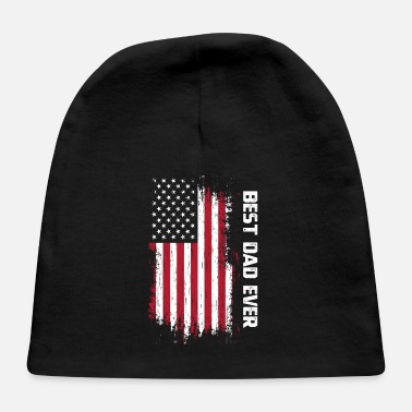 Parents Vintage Best Dad Ever American Flag Father's Day G - Baby Cap