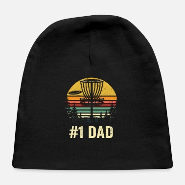 Golf #1 Dad Disc Golf Shirt - Number One Dad Frisbee Go - Baby Cap