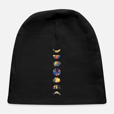 Half Moon Flowers Moon Phases - Baby Cap