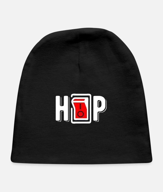 I Love Hiphop Baby Caps - Hip-hop and rap music lover, I Love Hip-hop - Baby Cap black