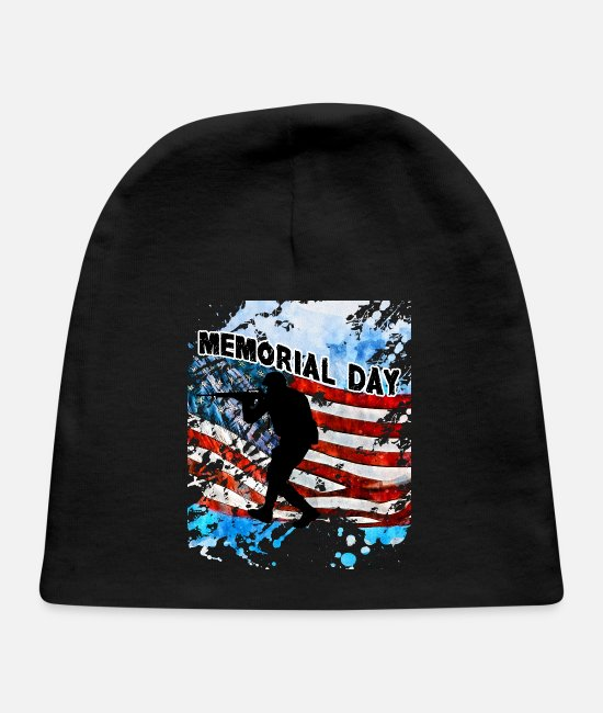 Usa Baby Hats - memorial day 2020 - Baby Cap black