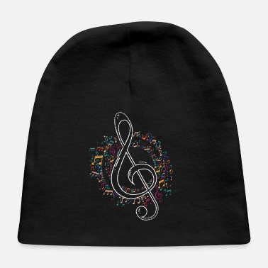 Music Music Musical Treble Clef - Baby Cap