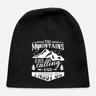 Mountains mountains mountaineering mountains - Baby Cap