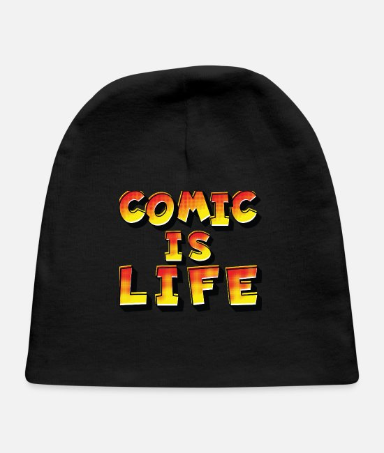 Superhero Baby Hats - Comic is Life Comic Style - Baby Cap black