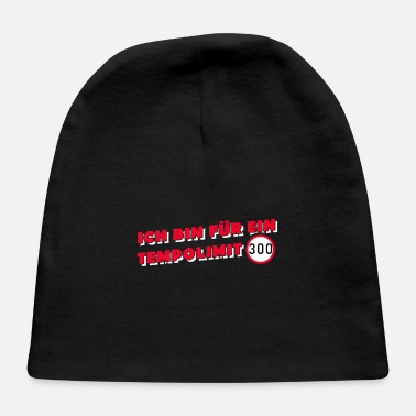 Sports Car I am for a speed limit 300 km/h vintage speeders F - Baby Cap