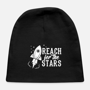 College Perfect Universe Design Quote Reach For The Stars - Baby Cap