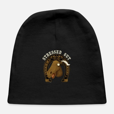 Horseshoe Horse Stressed Out - Baby Cap