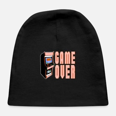 Retrogaming Game Over Arcade Machine Retrogaming Classic Gamer - Baby Cap