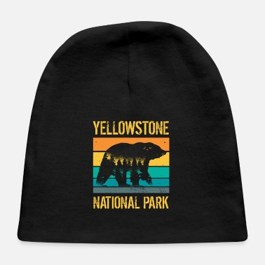 Forest Vintage Yellowstone National Park Bear - Baby Cap