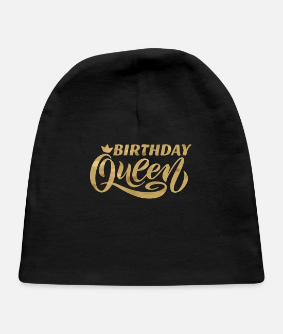Bday Queen Baby Hats - Birthday Queen Upgrade Birthday Gift Bday - Baby Cap black