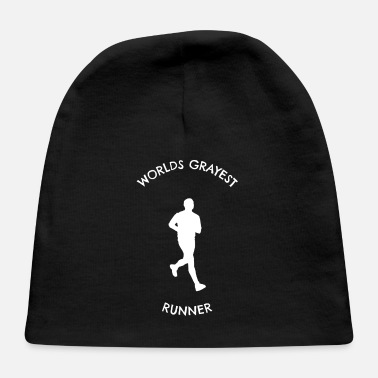 Jogging Father Grandfather Jogger Runner Marathon - Baby Cap