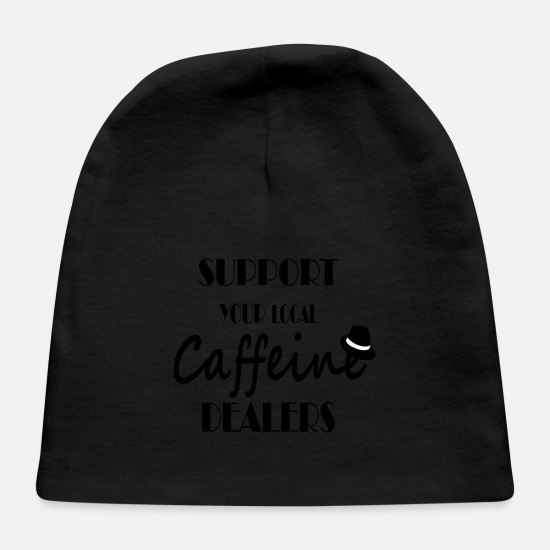 Espresso Baby Caps - Support your local caffeine dealers - Baby Cap black