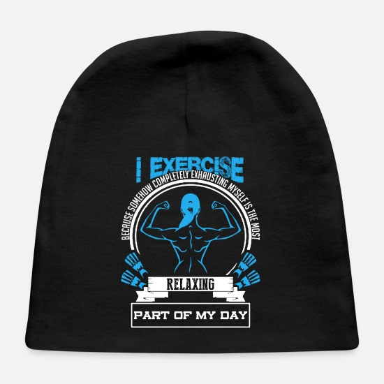 Gym Wear Baby Caps - I EXERCISE SHIRT - Baby Cap black