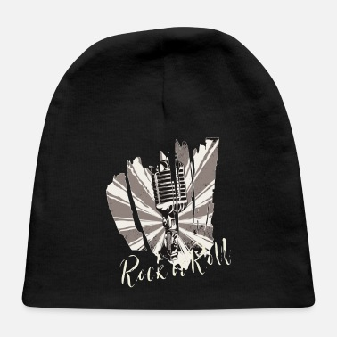 Rock n Roll present rockabilly cool gift music - Baby Cap