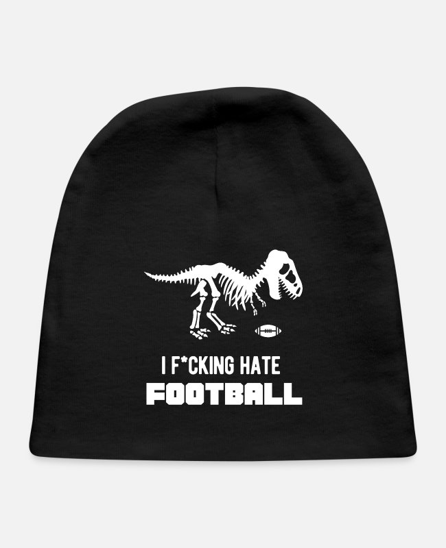 Dino Baby Hats - I Hate American Football Dino Gift Hater Trex - Baby Cap black