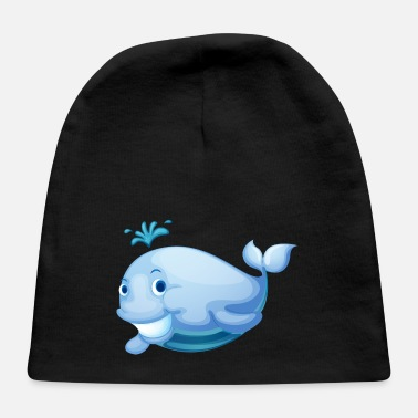 Marine Animal whale smile marine animal wildlife - Baby Cap