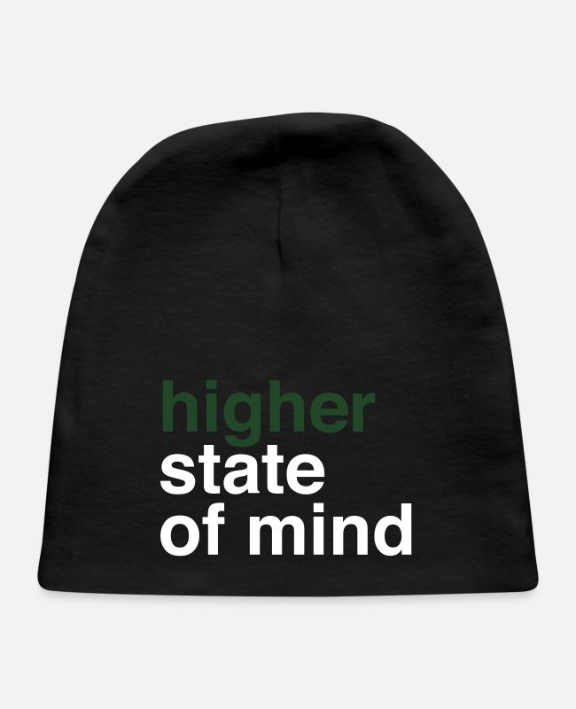 Hemp Baby Hats - higher state of mind - Baby Cap black