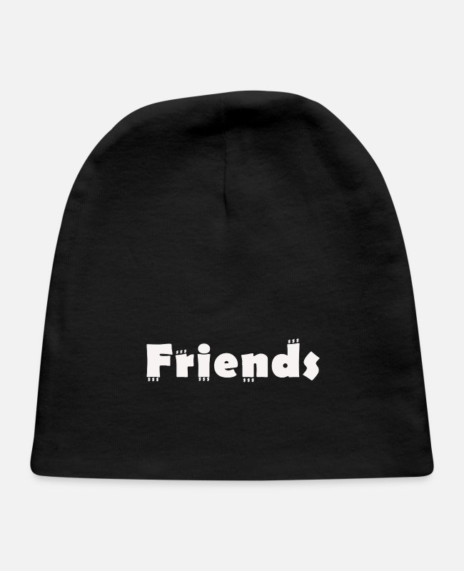 Friendship Baby Hats - Friends - Baby Cap black