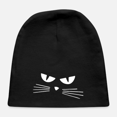 Stencil Cat eyes white silhouette - Baby Cap