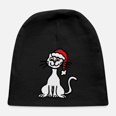Sumu Lee christmas cat 3 - Baby Cap