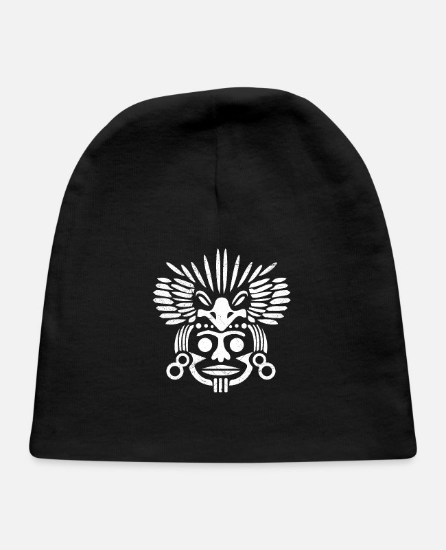 South America Baby Hats - Inca Warrior Face Peru Lover Gift Idea - Baby Cap black
