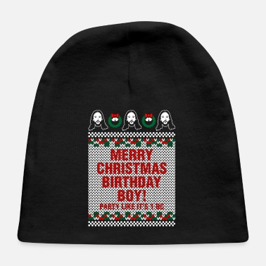 Ugly Boy Merry Christmas Birthday Boy Jesus Ugly Sweater - Baby Cap