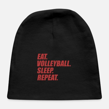 Funny Eat Sleep Volleyball Apparel - Baby Cap