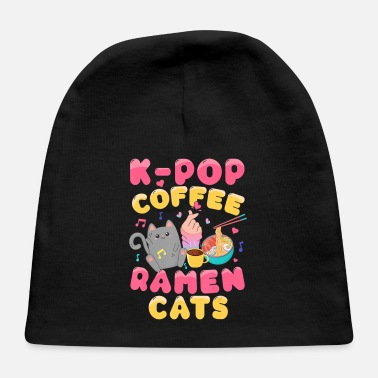 Bistro K-Pop Coffee Ramen Cats Japanese Kawaii Anime - Baby Cap