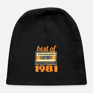 Mix Tape Best Of 1981 - 40th Vintage Birthday - Baby Cap