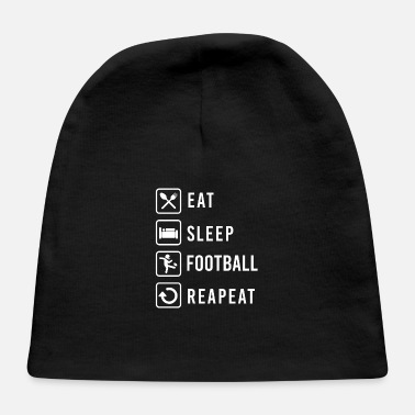 Brothers Eat Sleep Football Repeat Football Lover Gift Idea - Baby Cap