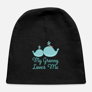 Granny Loves Me Whale - Baby Cap