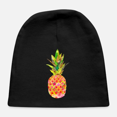 Watercolour PINEAPPLE WATERCOLOUR - Baby Cap