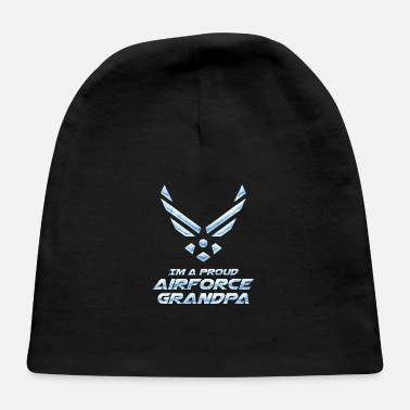 Airforce Airforce Grandpa Grandfather Granddaddy Pap Gift - Baby Cap
