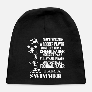 I Am A Swimmer I Am A Swimmer Funny Swimming Cool Practice - Baby Cap