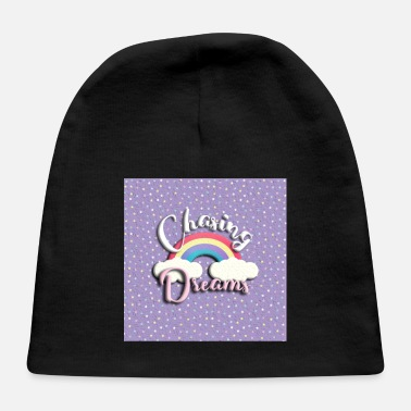 Chasing Rainbows chasing dreams rainbow violet with stars - Baby Cap