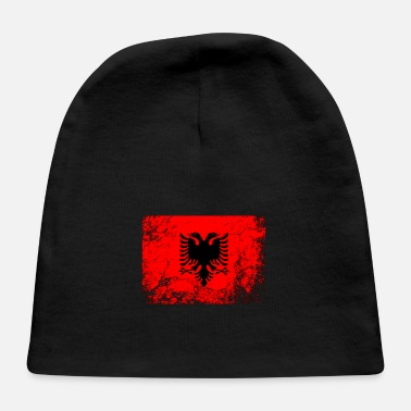 Albanian Germany Flag Albanian National Flag Vintage Gift - Baby Cap